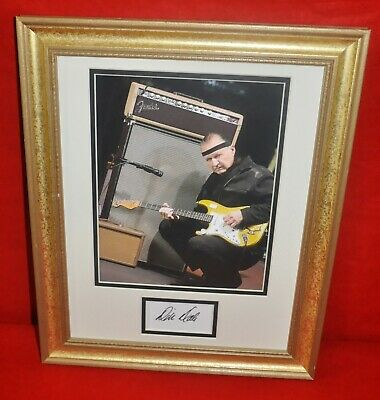 """Dick Dale Guitarist Autographed Matted & Framed 14""""x17"""" """"King of Surf Guitar"""""""