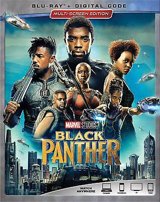 Black Panther (Blu-Ray+Digital) 2018 w/ Slipcover NEW - Free Shipping!