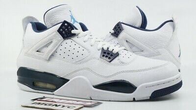 huge selection of fef00 b132f Air Jordan Iv Retro Ls Used Size 13 White Legend Blue Midnight Navy 314254  107