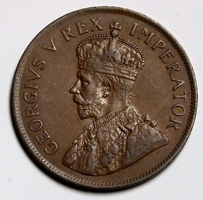 1928 South Africa Penny Coin KM# 14.2 Hern# S88 Mintage = 385,669