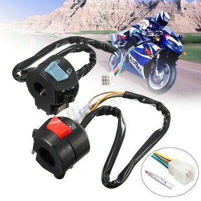 "12V DC 7/8"" Motorcycle HandleBar Control Switch Turn Signal Light Indicator"
