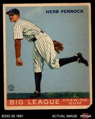 1933 Goudey #138 Herb Pennock Yankees FAIR