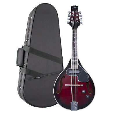 Artist MD200EQ+FC Red Sunburst Mandolin with Pickup and Foam Hard Case - New