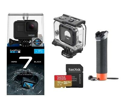 GoPro HERO 7 BLACK with 32G Sandisk Card + GoPro The Handler + Super suit