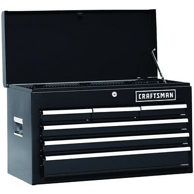 Heavy Duty Craftsman Toolbox 26 Inch Top Chest Tools Ball Bearing Tool Box Black