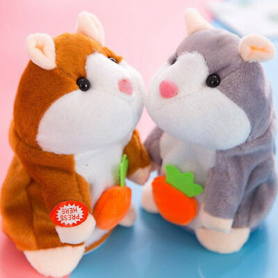 18CM Cute Talking Hamster Mouse Plush Dolls Voice Recording Speaking Toy Gift AU