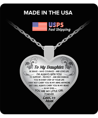Daughter And Mom Necklace Heart - To My Daughter Love Mom Necklace