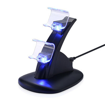 Playstation PS4 Dual Controller Charger Station LED Fast Charging Dock Standard