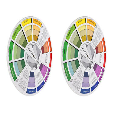 2pc Coloring Matching Guide Color Wheel Mixing Chart for Blending Color Tool