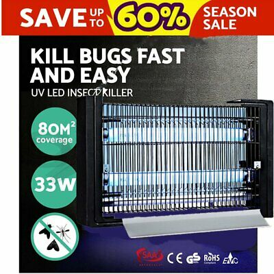 40W Insect Killer Mosquito Pest Fly Bug Zapper Catcher Trap Electric UV-A Alloy