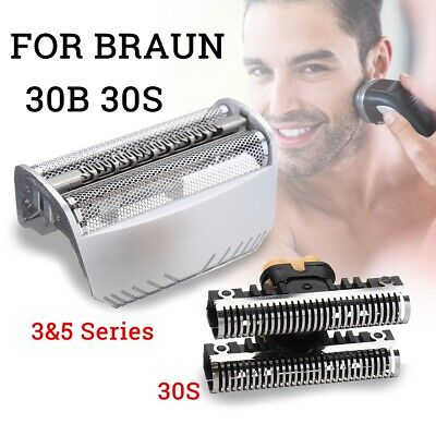 Shaver Razor Cutter Blade + Foil Replacement For Braun 30S/30B 4000 7000 Series