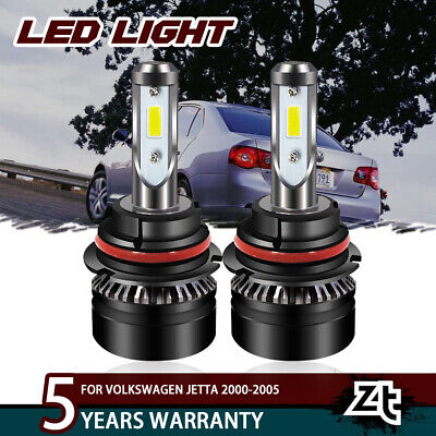 For Volkswagen Jetta 2000-2005 9007 HB5 LED Headlight Hi/Lo Beam Bulbs Kit Light