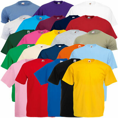3er Pack FRUIT OF THE LOOM Valueweight T-Shirts viele Farben Gr. S-XXL