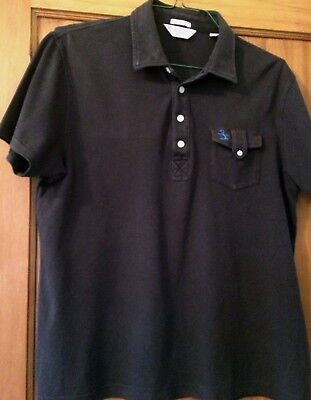 Vintage Penguin by Munsingwear Men's Black Polo Shirt, Size Large