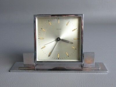 Mauthe Antique Watch Mechanical Art Deco' Years '30 Chrome-Plated Metal