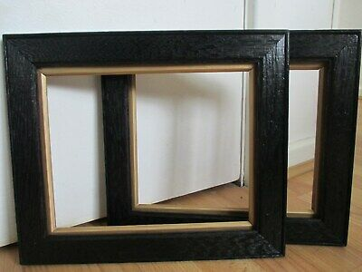 Pair of 19th Century Ebonised Wooden Gilt Rim Frame for Picture Painting etc