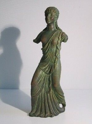1950 Rare Statue Sculpture Terracotta Style Antique Greece Woman 51Cm