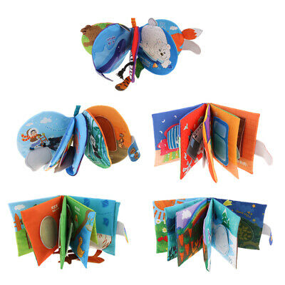 Animal Tails 3D Cloth Book Baby Toy Development Story Books Learning Educational