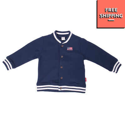 NAME IT Sweat Bomber Jacket Size 2-4M / 62CM USA Flag Patch Button Front