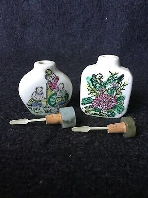Chinese Snuff Bottles X 2