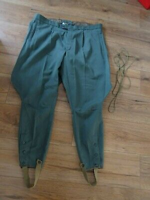 "Vtg MDL MILITARY BREECHES /BREEKS  IN GREEN 40"" WAIST - RE ENACTOR / THEATRE"