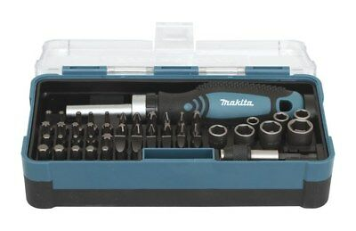 Makita Screwdriver Bit Set 47pcs Includes Hand Screwdriver and Magnetic Holder