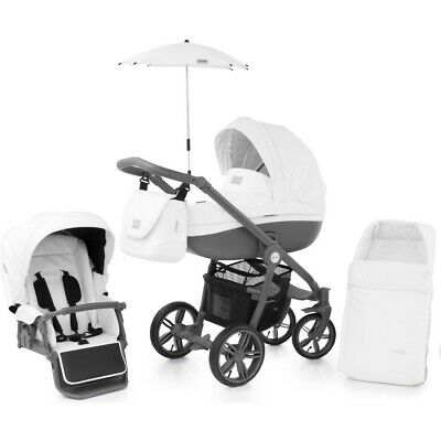 Babystyle Prestige Thunder Cloud Active chassis bag footmuff parasol & raincover