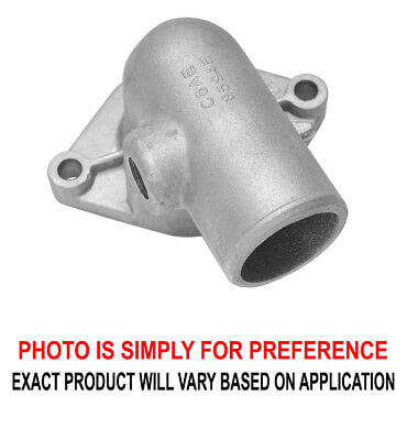 Renegade Thermostat Housing 66303-2; Straight Fixed Black Aluminum for Ford 351C