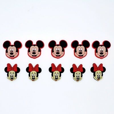 10pcs Children Gift New Micky Minnie Head Shoe Charms For Hole Shoes Bracelet