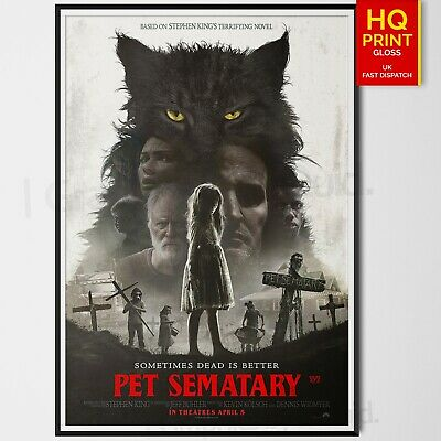 Pet Sematary Horror/Thriller 2019 Movie Poster #3 Stephen King | A4 A3 A2 A1 |