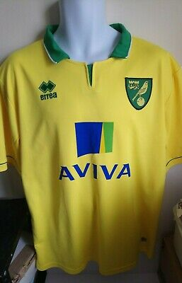 Norwich City FC Canaries Official Replica Team Home Shirt Size XXL No.9 HOLT