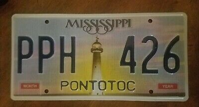 MISSISSIPPI PPH 426 LIGHTHOUSE UNUSED CLEAN LICENSE PLATE TAG specialty sunset