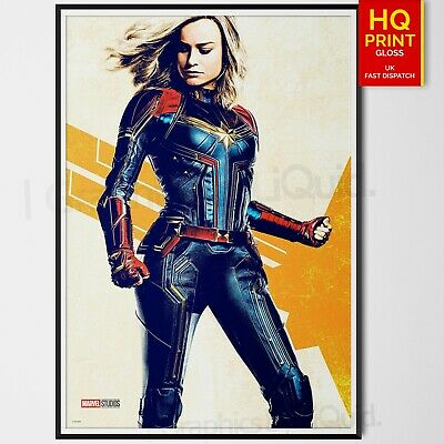 Captain Marvel 2019 Movie Poster Brie Larson Marvel Art Print #7 | A4 A3 A2 A1 |