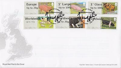 GB 2012 (24th April) Farm Animals Post & Go Stamps on Royal Mail Cover