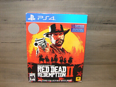 Red Dead Redemption 2 - PlayStation 4 PS4 Collectible Steelbook BRAND NEW SEALED