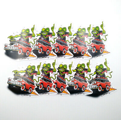 10Pcs Rat Fink Pinup Girl Big Daddy Classic Vinyl Decal Ed Roth Bicycle Stickers