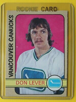1972-73 OPC O Pee Chee Don Lever Rookie Card Vancouver Canucks EX