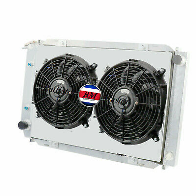 """2x12/""""Fan ALUMINUM RADIATOR FOR 1979-1993 Ford Mustang GT LX Convertible 5.0L V8"""