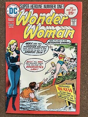 WONDER WOMAN #216 (DC Comics 1975) *RARE* HIGH GRADE Issue! NM! FREE SHIPPING!