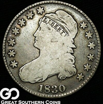 1830 Capped Bust Half Dollar, Tough Silver Half Type