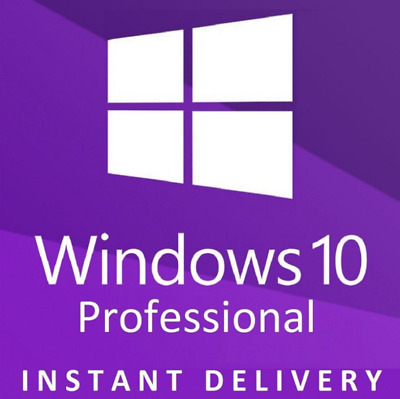 Instant Microsoft Windows 10 Professional Pro 32 & 64 Bit Code Licence Key