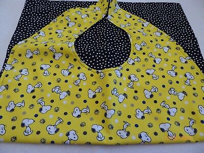 Adult Bibs/cover-ups for adults/seniors/disabled; Snoopy on Yellow