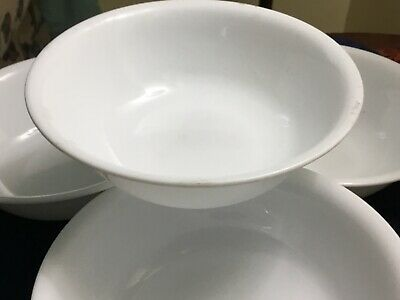 """Corning/Corelle WINTER FROST 6 1/4"""" COUPE SOUP CEREAL BOWLS USA  10 Available"""