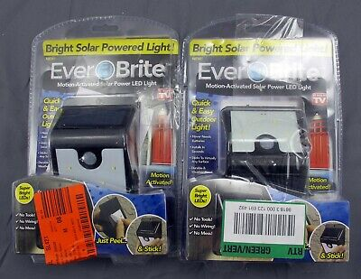 Ever Brite BRITE-MC12/4 Ever Brite Motion Activated LED Solar Light Double Pack