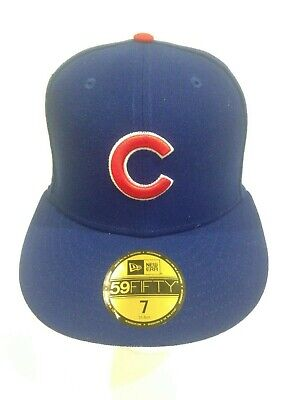 Chicago Cubs New Era 59Fifty Post Season 2016 Patch Fitted Hat Size 7 Blue fe675ee2135a