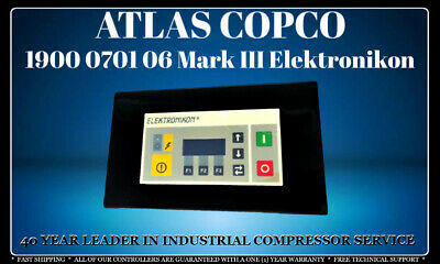 Atlas Copco 1900 0701 06 Elektronikon Programmed With Your Compressor'S Settings