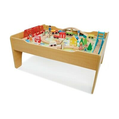 70 Pieces DIY Wooden Train Table Playset Construction Birthday Gift AU Stock