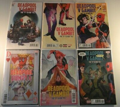 Marvel Comics Deadpool v Gambit the v is for versus 1 2 3 4 5 5 variant