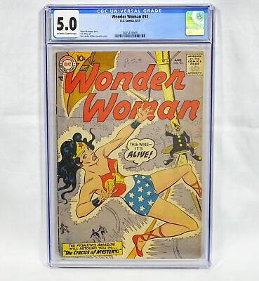 DC Comics Wonder Woman #92 CGC 5.0 Off White to White Pages Kanigher,Peter,Andru