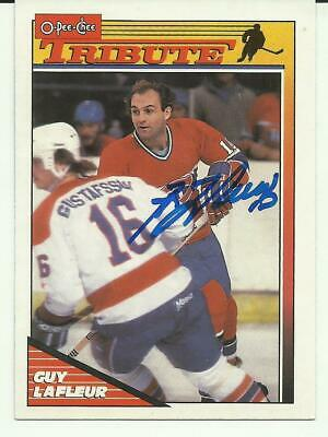 Guy Lafleur Autographed Montreal Canadiens Card Quebec